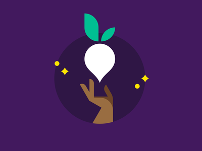 Flexible Logo System for Mooli purple sparkles radish indian hand geometric vector flat illustration logo brand identity design brand identity brand