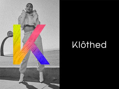 Klothed Brand Direction layered texture gradient k brand minimal brand identity logo brand identity design branding