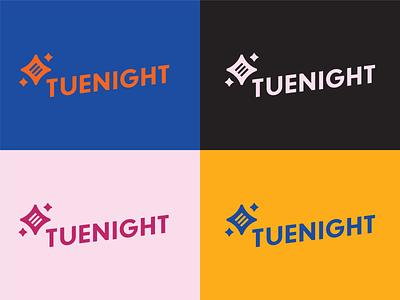 Unused Brand Direction for TueNight typography badge blog brand writing brand star logo star generation x women logo brand identity brand identity design branding