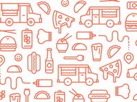 Food Truck Branding Pattern