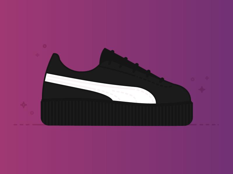 Shoes Series Part 1 clothing style purple gradient rihanna sneaker creeper puma shoe