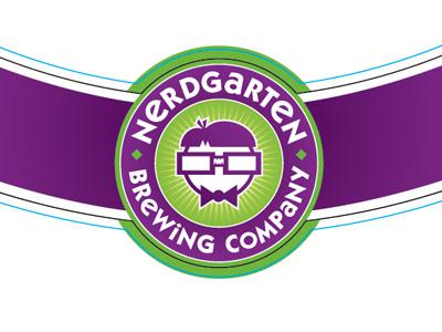 Nerdgarten Bottle Neck Label beer brewing company nerd