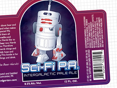 Sci-Fi P.A. label beer ipa package design sci-fi star wars keg