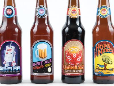 Nerdgarten Bottles label beer package design nerd