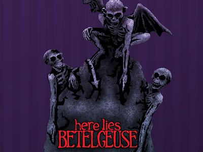 Here Lies Betelgeuse purple grave tim burton beetlejuice