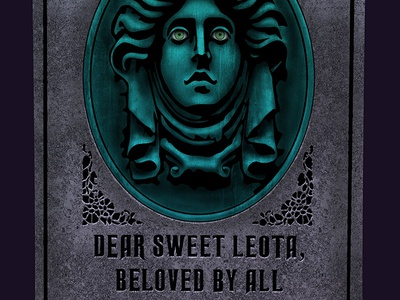 Madame Leota Gravestone gravestone disney world haunted mansion