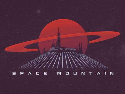 Space Mountain tomorrowland roller coaster ride theme park disneyland disney