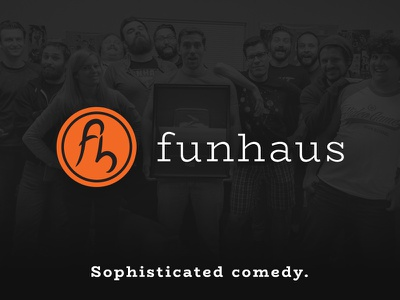 Reimagined Funhaus Logo innuendo joke logo funhaus