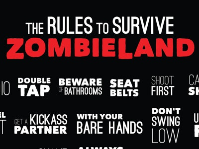 Zombieland Rules zombies zombieland list horror movie rules