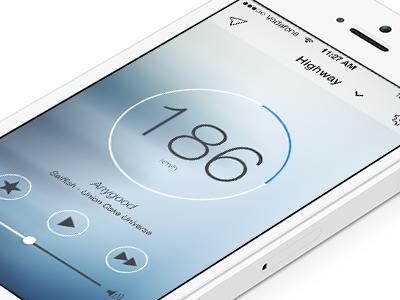 Drivetunes iPhone App  design ui ux music spotify