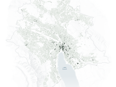 Age of buildings in Zurich urban vector geography maps design data visualization cartography mapping svg map