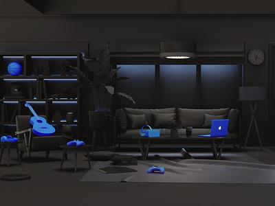 BlueVerify / 3D Set Design design setdesign illustration artdirection 3d art