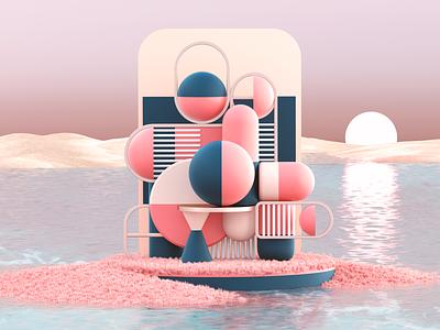 Rest & Calm design setdesign illustration artdirection 3d art