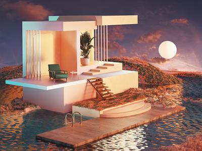 Rest & Calm setdesign design illustration artdirection 3d art