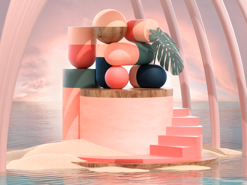 Rest & Calm setdesign design illustration artdirection 3d art
