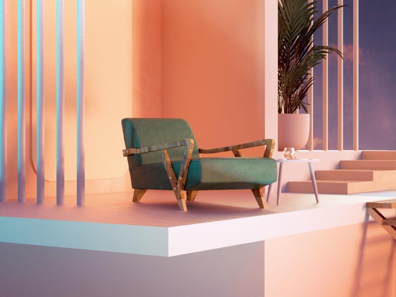 Calm & Rest setdesign design illustration artdirection 3d art