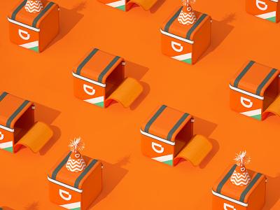 Didi Food Anniversary animation design setdesign illustration artdirection 3d art
