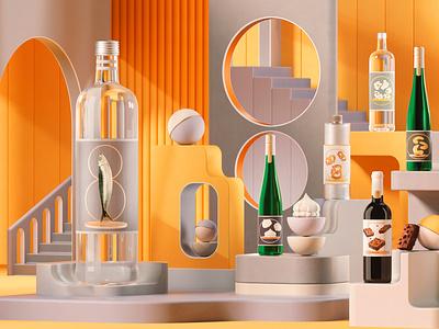 El Palacio de Hierro illustration design minimal animation artdirection 3d art