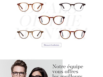 The House of Eyewear - Homepage webdesign violet fashion glasses white serif desktop minimal clean uidesign ui website web