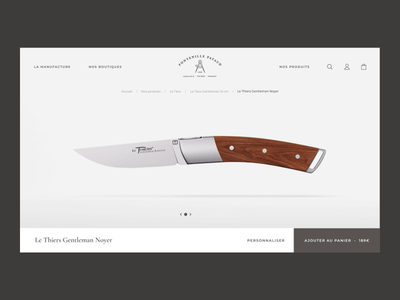 Knife product page