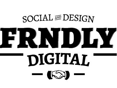 FRNDLY Digital Logo logo draft vintage typography