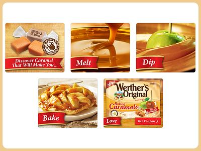 Werther's Original Caramel Flash Banner Ads flash ads banner advertising display ads food baking