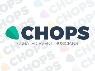 Chops Brand Identity chops music musicians startup logo identity flat colors