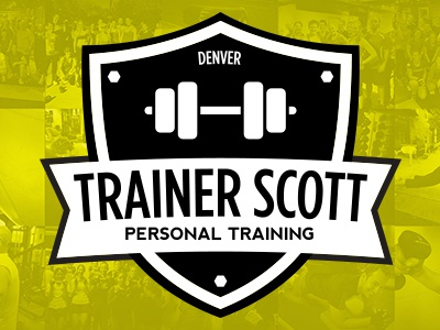 Trainer Scott | Personal Trainer Logo personal trainer fitness gym crossfit paleo logo shield