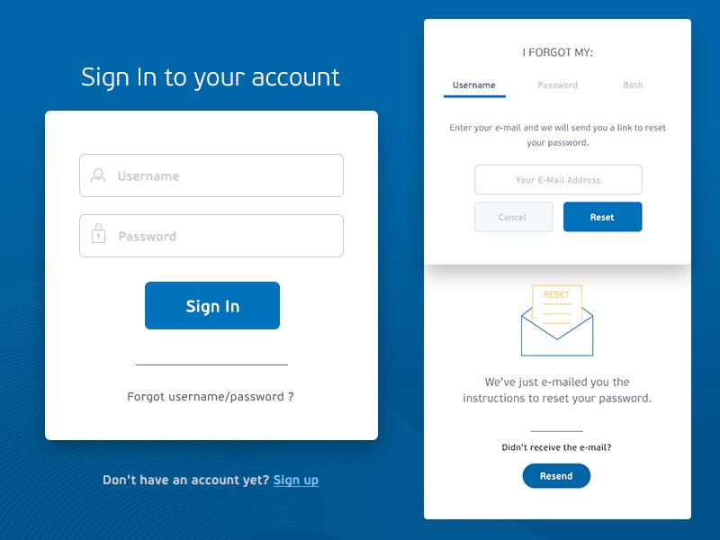 Sign In User Flow clean minimal interface ui user flow form login signin app webapp