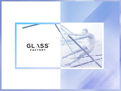 GF Visual Identity corporate minimal glass clean visuals identity brand logo