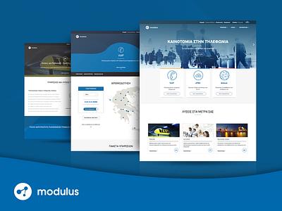 Modulus Website telecommunication. corporate cards responsive ux ui webdesign page landing website