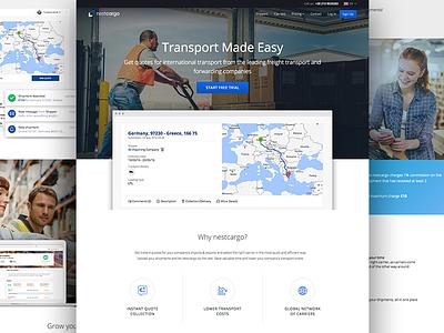Nestcargo Website transportation corporate cards responsive ux ui webdesign page landing website