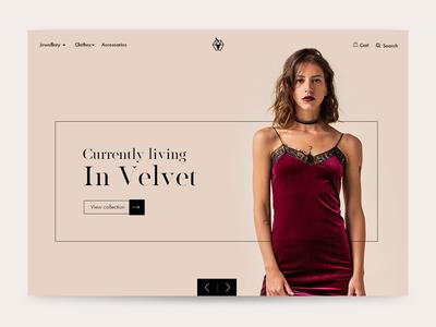 Fashion Shop Landing fashion web design ui animation editorial minimal eshop
