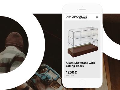 Dimopoulos Website product celan minimal corporate landing interior architecture website ux ui