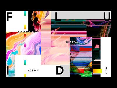 Brand Mood fluid typography gradients vivid visual key vibrant glitch logo identity branding digital
