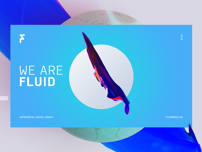 Fluid Brand Visual digital cover landing morphing shapes organic gradients fluid