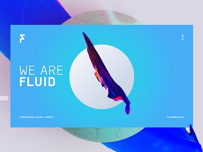 Fluid Brand Visual digital cover landing morphing shapes organic gradients fluid