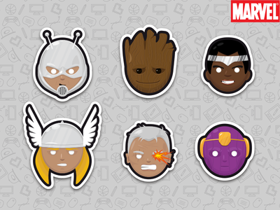 Marvel Sticker Set 6