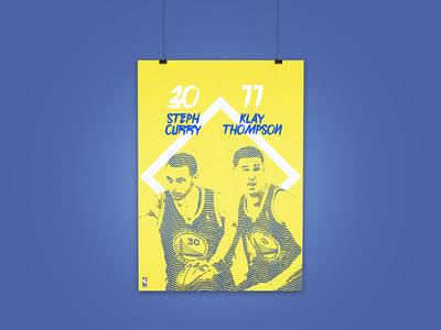 NBA Poster Golden State Warriors