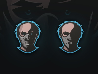 Hannibal Lecter logo monster mark hannibal face emblem