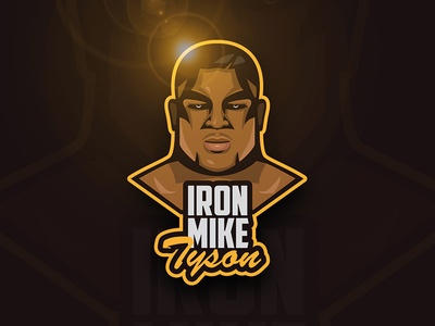 Young Mike Tyson legend boxer boxing face logo emblem mike tyson iron mike
