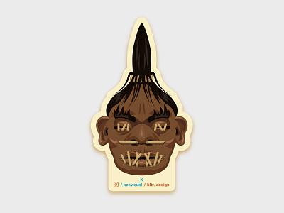 Shrinkhead design sticker printdesign shrinkhead