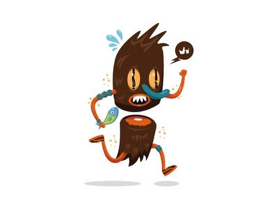 Running Fishermann krono illu krono illustration