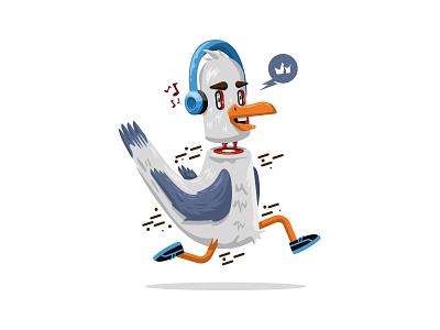 Running Seagull seagull krono illu krono illustration