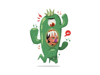 Cactus Trapped Man cactus krono illu krono illustration