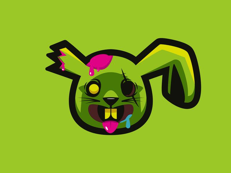 Zombie Bunny character sticker zombie bunny