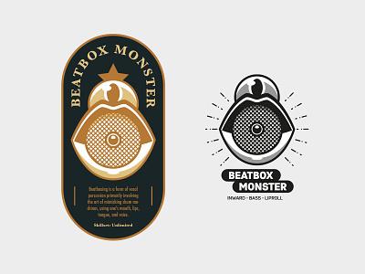 Beatbox Monster vintage shirtdesign logo monster beatbox
