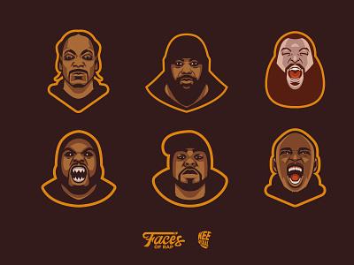 Rapper illustration action bronson sean p snoop dogg sticky fingaz method man rapper