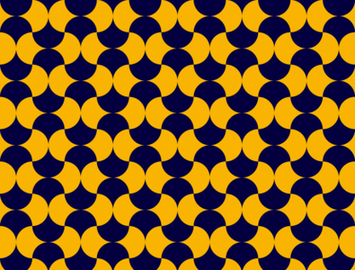 blue petals truchet processing pixijs p5.js clean procedural art generative art tiling art pattern art simple pattern petals yellow blue