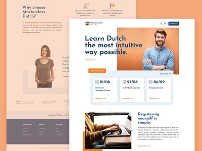 Dutch Language Course | Landing page wordpress photoshop course typography web webdesign ui ux landing page